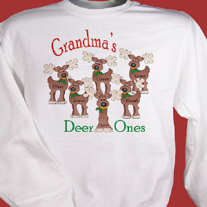 Personalized Reindeer Sweatshirt