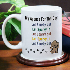 Agenda For The Day Coffee Mug