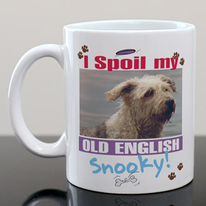 I Spoil My Dog Personalized Photo Coffee Mug