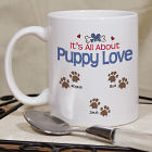 It's All About Puppy Love Personalized Pet Coffee Mug