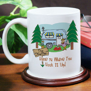 Home Is Where You Hook It Up Personalized Coffee Mug