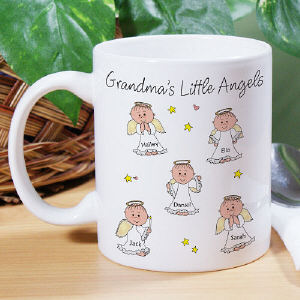 Personalized grandma's Little Angles Coffee Mug