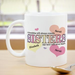 Sisters Friendship Coffee Mug | Customizable Coffee Mugs