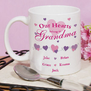 Our Hearts Personalized Coffee Mug