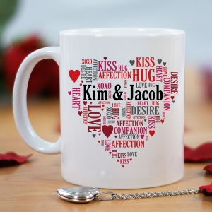 Couples Love Word-Art Coffee Mug