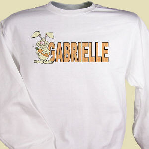 Carrot Name Personalized Easter Sweatshirt
