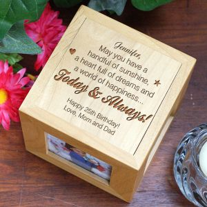 Personalized Birthday Photo Cube - Today and Always