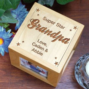 Super Star Grandpa Photo Cube