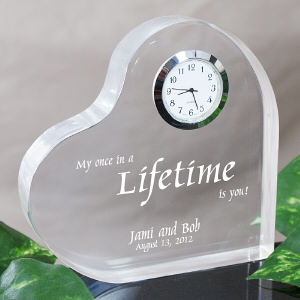 My Lifetime Keepsake Heart Clock