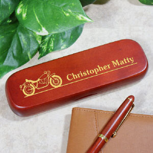 Engraved Motorcycle Pen Set