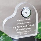 Through the Years Keepsake Heart Clock