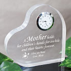 Personalized Mother's  Day Keepsake Clock