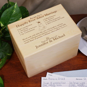 Engraved Happily Ever After Recipe Box