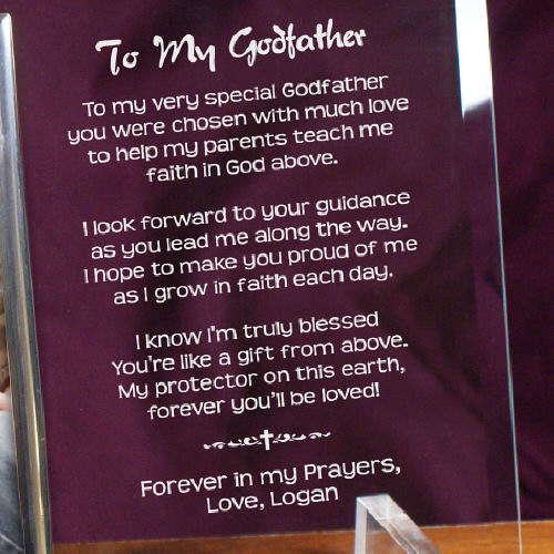 To My Godfather Personalized Beveled Glass Frame 8534128