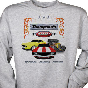 My Garage Personalized Sweatshirt