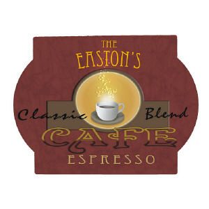 Cafe Espresso Personalized Wall Sign