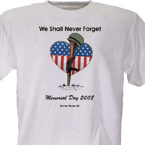 Memorial Day Personalized T-Shirt