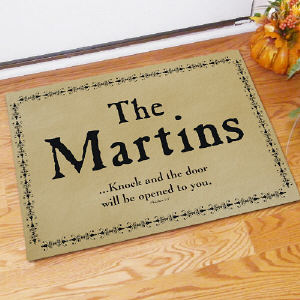 Knock... Personalized Doormat