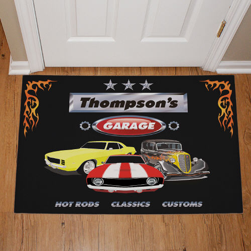 My Garage Personalized Doormat 83127967