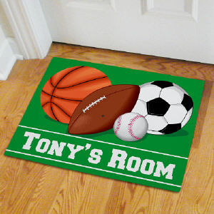 Personalized Sports Fan Doormat