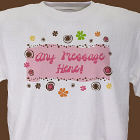 Personalized Floral Retro T-shirt