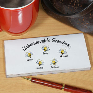 Unbeelievable Personalized Checkbook Cover