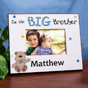 I'm the Brother Teddy Bear Personalized Printed Frame