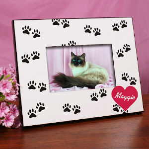 Paw Prints Printed Picture Frame