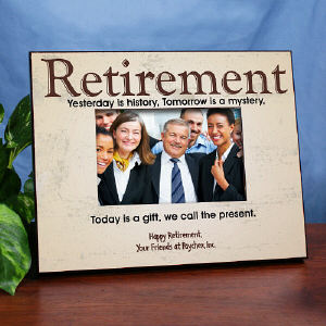 Retirement Personalized Printed Frame