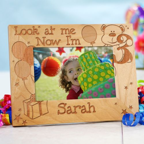 Children's Custom Birthday Frame - Look at me!