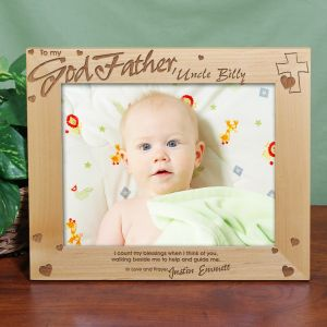 Personalized Godfather Wood Picture Frame 8x10