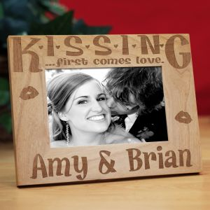 Personalized Valentine's Day Kiss me Frame