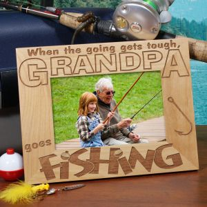 Go Fishing Wood Picture Frame