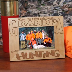 Go Hunting Wood Picture Frame | Personalized Hunting Gifts