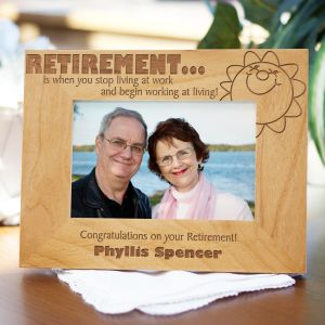 Personalized Retirement Wood Picture Frame