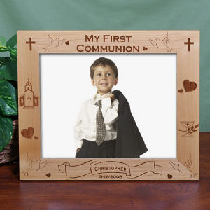 Personalized First Communion Wood Picture Frame