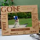 Personalized Golf Wood Picture Frame