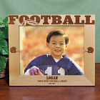 Engraved Football Wood Picture Frame