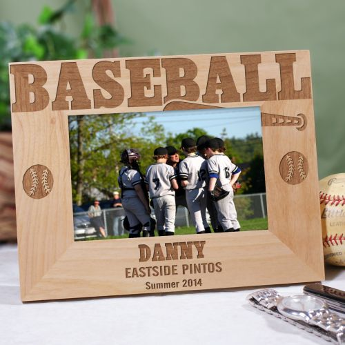 Baseball Wood Picture Frame | Personalized Wood Picture Frames
