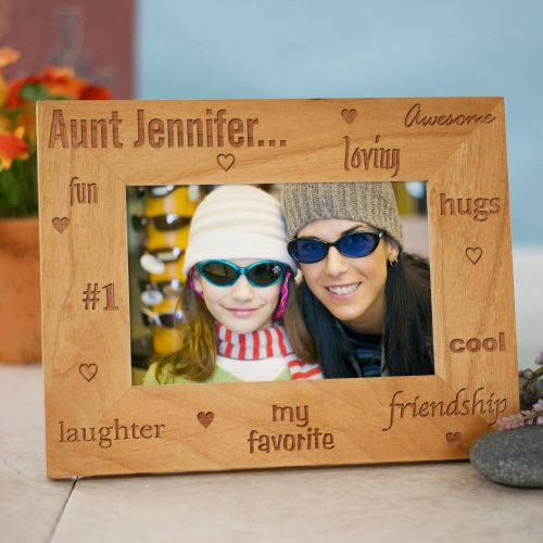 My Favorite Aunt Personalized Wood Picture Frame