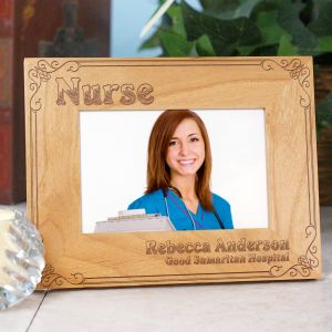 Personalized Nurse Wood Picture Frame