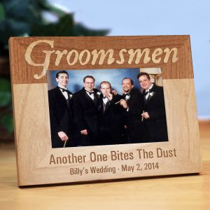 Personalized Groomsmen Wood Picture Frame | Personalized Wood Picture Frames