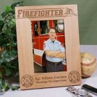 Personalized Firefighter Wood Picture Frame