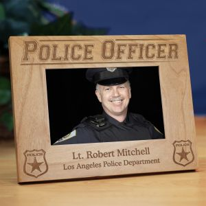 Personalized Police Officer Wood Picture Frame