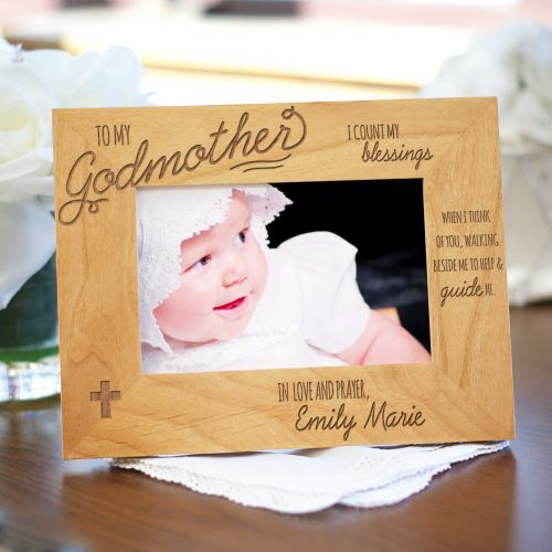 Engraved Godparent Wood Picture Frame 972411X