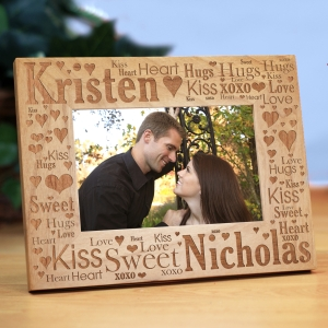 Couples Love Word-Art Picture Frame