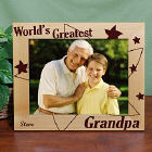 Personalized World's Greatest Stars Wood Picture Frame