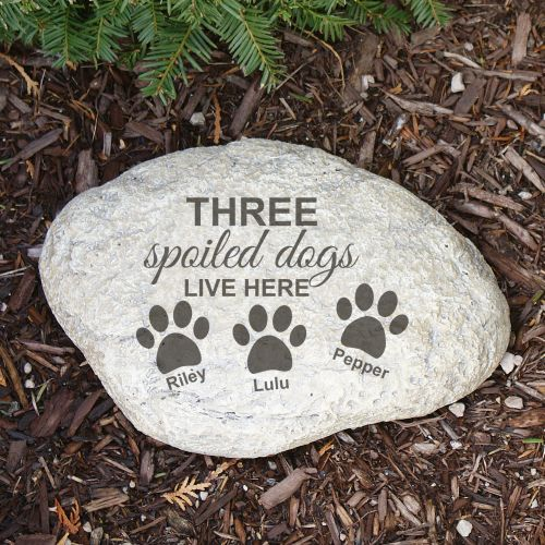 Engraved Spoiled Dog Garden Stone L664814