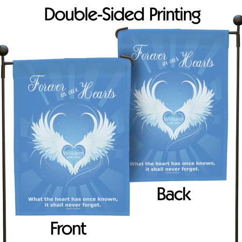 Personalized Forever In Our Hearts Sympathy Garden Flag 83038412N