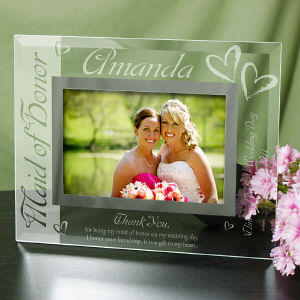Maid of Honor Glass Picture Frame G929151
